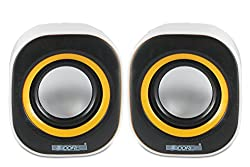 5 Core MMS-06 USB powered multimedia speaker for computers, mobile phones, laptops with 3.5mm jack, high quality speaker with soundbass powered with 2 W X 2 RMS speakers