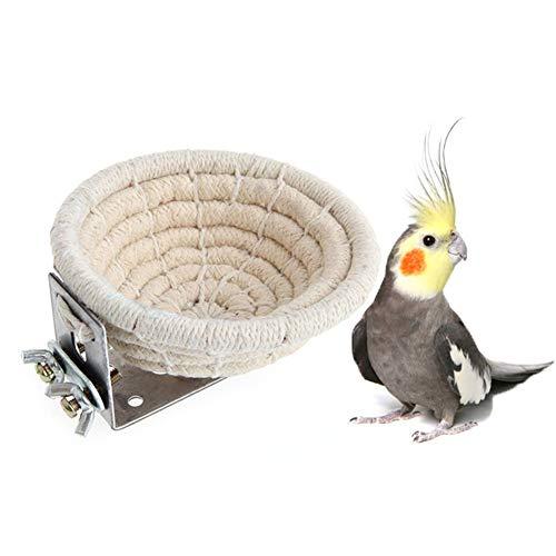 DABAI99 Hohe Qualität Heimtierbedarf Handgefertigtes Brutnest aus Baumwolle für Vögel, Bett für Wellensittiche, Sittiche, Nymphensittiche, Kanarische Finken, kleine Papageien, Nistkasten -
