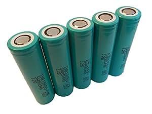 set de 5 piles d'origine 18650 Samsung 2000mAh (3.6V) pour l'utilisation d'outils et d'appareils de jardinage.