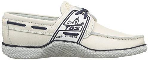 TBS Globek, Chaussures Bateau Hommes, Rouge (Rouge/Encre), 39 EU Blanc (Blanc Encre)