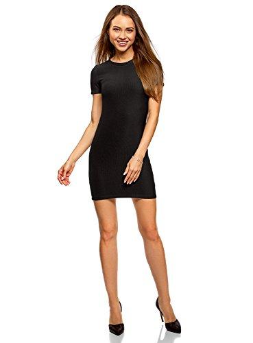 Sexy Designer Kleider (oodji Ultra Damen Kurzarm-Kleid aus Jersey, Schwarz, DE 32 / EU 34 / XXS)