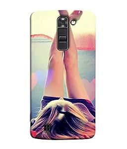 PrintVisa Designer Back Case Cover for LG K7 (girl with sexy hot legs)