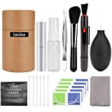 Camera Cleaning Kit, bedee Lens Cleaning Kit SLR Lens Cleaner DSLR Camera Cleaning Kit with Cleaning Cloth/Cleaning Pen/Lens Brush/Air Blower/Spray Bottle/Tweezers/Wipes/Swabs for DSLR Cameras