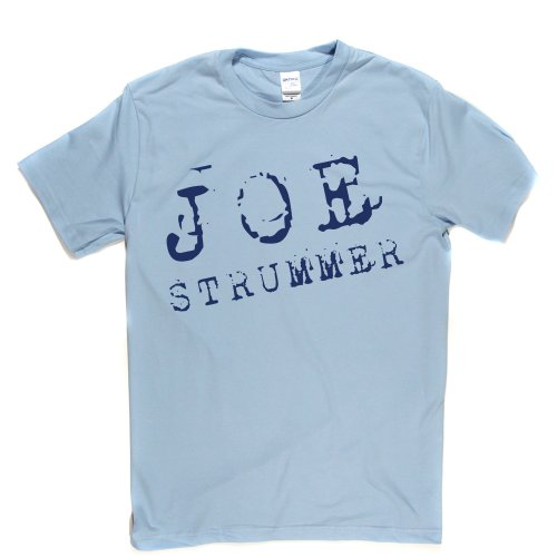 Joe Strummer 3 British Punk Thrash UK London T-shirt Himmelblau