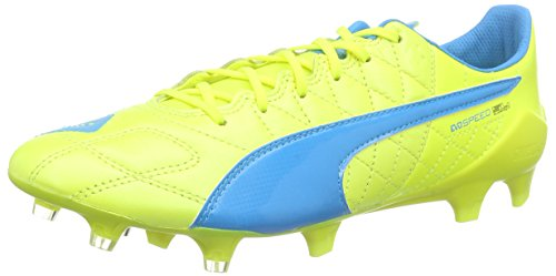 puma-evospeed-sl-lth-fg-chaussures-de-football-homme-multicolore-safety-yellow-atomic-blue-white-42-