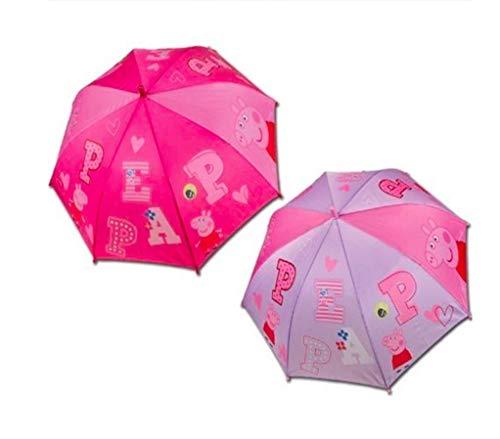m Ø 96cm Kinderschirm Regen Schirm Mädchen Girls Boys Rot Lila Violett Rosa, Farbe:Rot ()