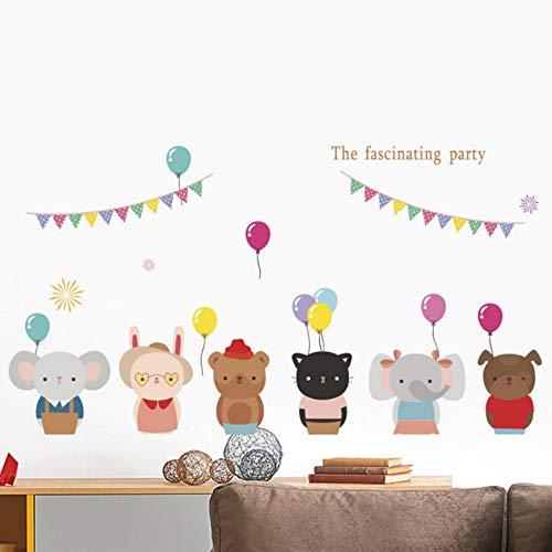 Yzybz Die Faszinierende Partei Katze Hund Bär Wandaufkleber Schlafzimmer Dekoration Cartoon Tiere Wandtattoos Pvc-Wandkunst Diy Poster