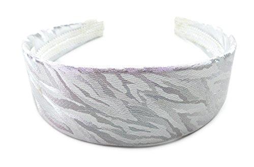 Haar-Reif Damen Herren Haarreifen 4415 Haar-Spange Haarreifen im edlen Glanz Haar-Reifen (silber