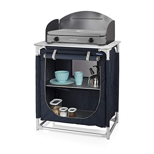 CAMPART Travel KI-0752 Cocina de camping Valencia, Con paravientos, Bolsa de almacenamiento incluida...