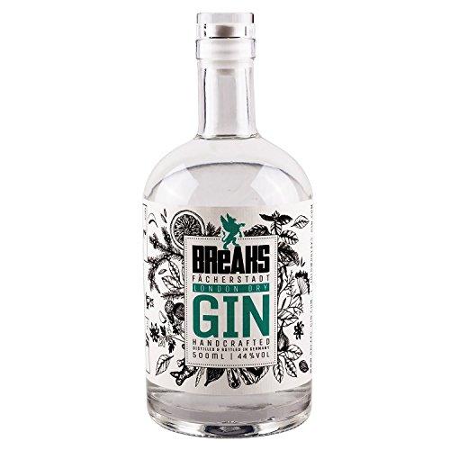Breaks Premium Dry Gin, Milder Geschmack, Handcrafted in Karlsruhe, 44% vol., 500 ml Flasche