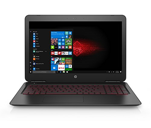 HP OMEN 15-ax201ns - Ordenador Portátil Gaming de 15.6' FullHD (Intel Core i7-7700HQ, 8 GB RAM, 1 TB HDD, NVIDIA GeForce GTX 1050 4GB GDDR5, Windows 10); Negro - Teclado QWERTY Español