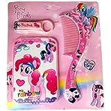 My Little Pony Grooming Set - My Little Pony Nail Clipper, My Little Pony Comb, My Little Pony Mirror -Gift For Girls My Little Pony Travel Kit For Girls Birthday Gift For Girls ( 1 Pcs )