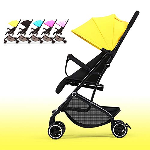 Cochecito Bebe Silla de Paseo Sillas Ligera Carrito Silletas Ligeras Confort Bee Baby Jogger City Tour Sillita London Monster Compact Mini Capota Ventilada,Yellow