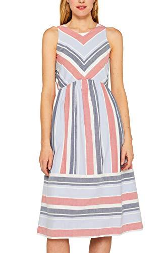 ESPRIT Damen 049EE1E032 Kleid, Blau (Light Blue Lavender 445), Herstellergröße: 42 (Kleid Lavender Lace)