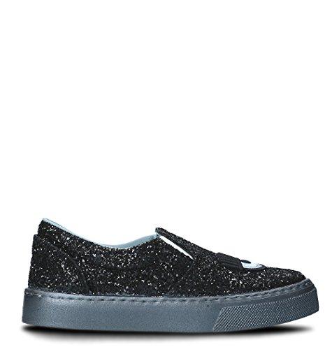 Chiara Ferragni Femme CF1691001 Noir Paillettes Chaussures De Skate