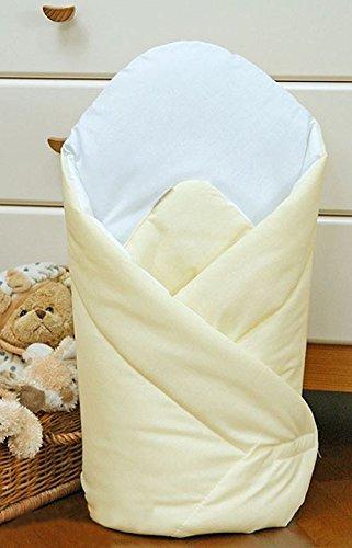 Baby Wickeltuch/Decke 80x 80cm–Uni Creme