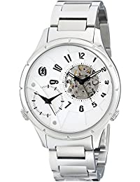 Charles-Hubert, Paris Men's 3967-W Premium Collection Analog Display Mechanical Hand Wind Silver Watch