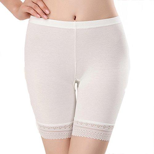 L&K-II Lot DE 3 L Femme Sexy Shorts de Dentelle Boxers Culotte XS/S Blanc 3414