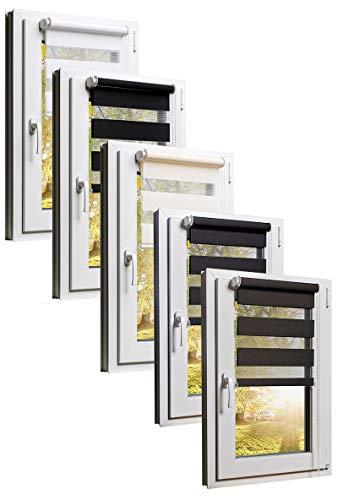 TEXMAXX Rollo - Rollos für Fenster ohne Bohren - 75 x 150 cm (Stoffbreite 71 cm) - inkl. Zubehör - in Weiss