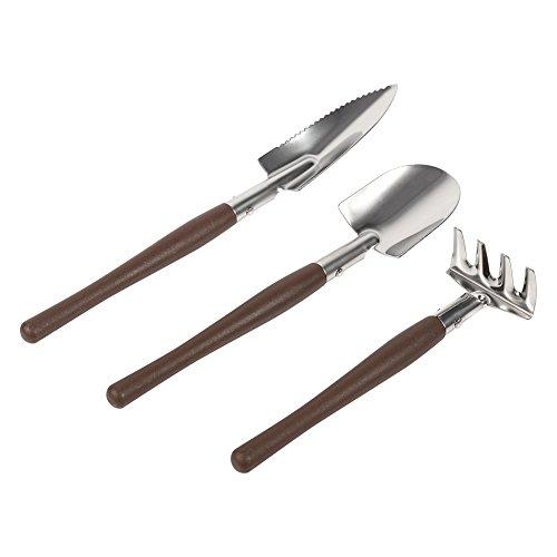 Zerodis 3 Stück Set Mini Garten Werkzeuge, kleine Handheld Schaufel Spaten Rechen Gartenarbeit Set Kinder Spielzeug für Sukkulenten Kaktus Kräuter Pflanzen(Kunststoff) (Miniatur-schaufel)