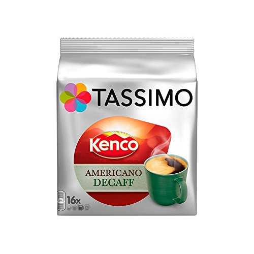 Get Tassimo T Discs Kenco Americano Decaf (1 Pack, 16 T discs/pods), 16 Servings by Jde Coffee