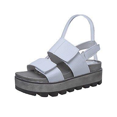 Tacchi estate primo Walkers PU Office & carriera abbigliamento sportivo a cuneo fibbia tacco nero argento Oro a piedi White