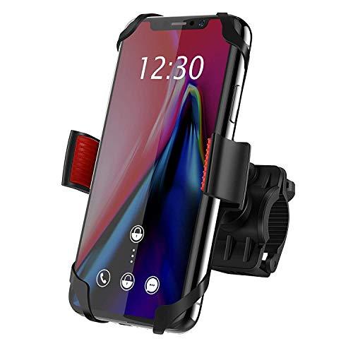 Ipow supporto bici smartphone porta cellulare bici, supporto manubrio universale bici moto per bicicletta ciclismo, 3 scomparti protezione di sicurezza per smartphone e gps
