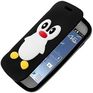 Avizar - Coque Pingouin Clapet Folio Silicone pour Samsung S7562 Galaxy S Duos et Galaxy Trend