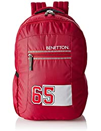 United Colors of Benetton 22 Ltrs Red Casual Backpack (0IP6COLBPMG5I)