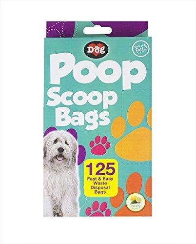 Perro caca residuos bolsas pack de 125limón perfumadas desechables bolsas por mundo de Pat de la mascota del recogedor