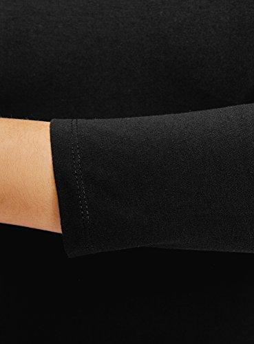 oodji Ultra Mujer Vestido Ajustado con Escote Barco, Negro, ES 44 / XL