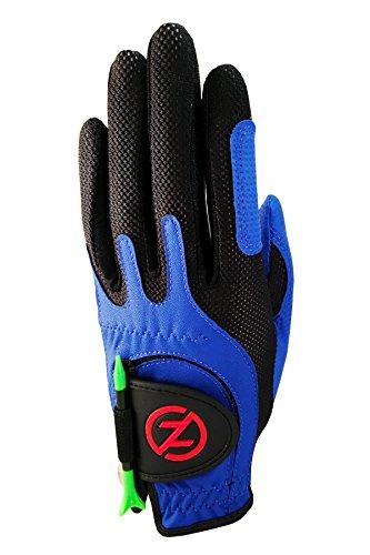 Zero Friction Null Reibung Junior compression-fit Synthetik Golf Handschuhe, Universal Fit One Size, Jungen, blau, Einheitsgröße