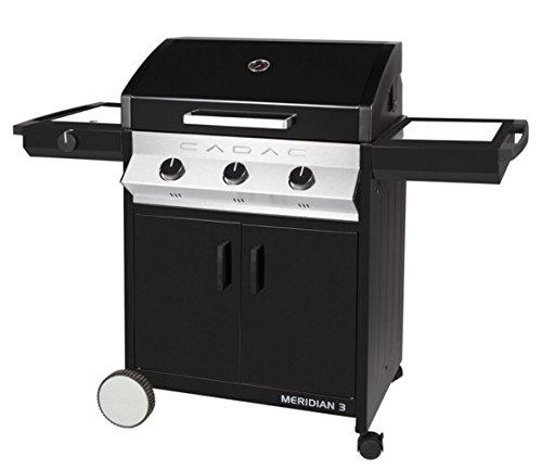 Cadac Barbecue à gaz 3 brûleurs Meridian Plancha 'n Grill