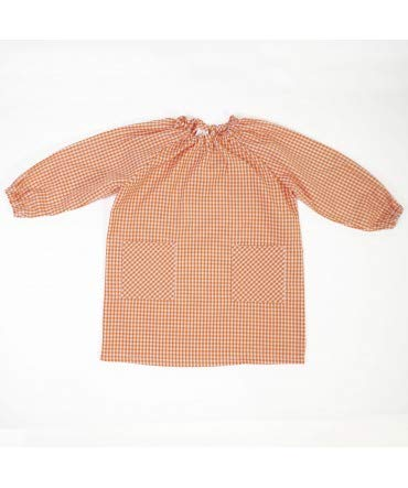 10XDIEZ Bata Escolar Unisex Naranja - Medida Bata