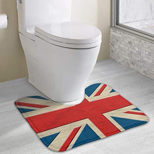 Custom Non-Slip Toilet Rug Blue Forest U-Shape Absorbent Floor Mat Soft Cushion Shower Mat Polyester Bath Rug for Bathroom