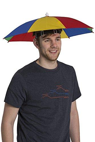 Mountain Warehouse Umbrella Rainbow Hut - Elastisches Kopfband, eng sitzender Regenhut, Damen- und Herrenkappe, kompakt, faltbar, leicht - Schutz vor Sonne und Regen Rot