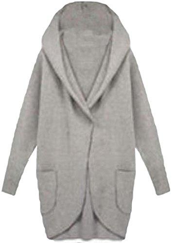 EKU FASHION Damen Mantel Gr. XL, dunkelgrau - Plus Size Peacoats