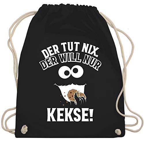 Sprüche Kind - Der tut nix. Der will nur Kekse! - Unisize - Schwarz - WM110 - Turnbeutel & Gym Bag