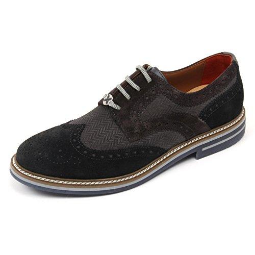 C2490 scarpa inglese uomo BRIMARTS scarpe grigio scuro fondo gomma shoe man Grigio scuro/Grigio