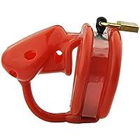 Roo-16HAO Cerradura Suave de Silicona, Cerradura Nueva, púas en el Interior, Soporte de Ejercicio, Evita Que Las Mascotas escapen (Rojo) -768