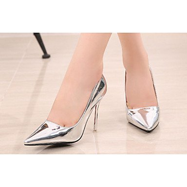 Moda Donna Sandali Sexy donna estate tacchi tacchi in pelle di brevetto Casual Stiletto Heel altri argento / Oro Altri golden