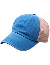 Cebbay Gorras Beisbol Casquillo Bordado de Verano Sombreros de Malla para Casuales Sombreros Hip Hop Gorras de béisbol