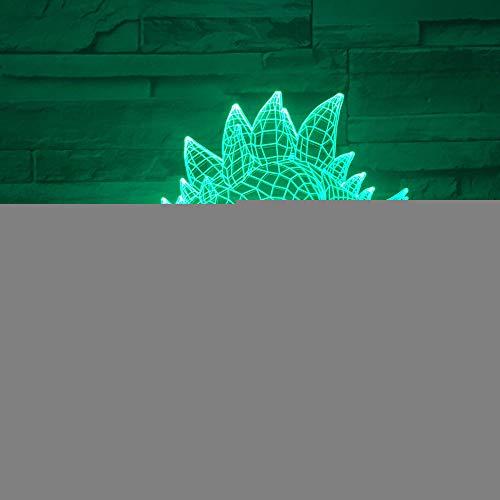 YDBDB Luz nocturna El acrílico de la decoloración colorida del tacto de la lámpara del dragón de la espada 3D nos llevó Usb llevó las lámparas ligeras 3D