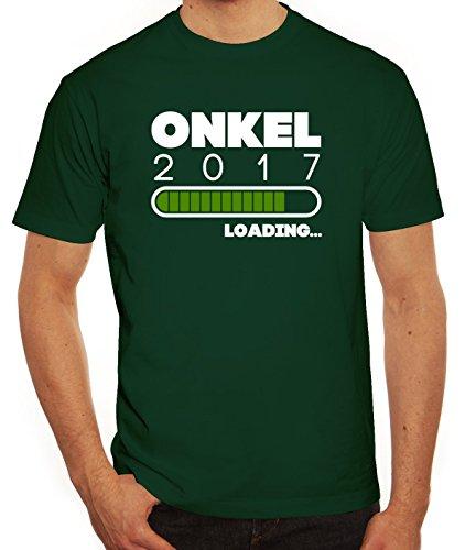 Geschenkidee Herren T-Shirt mit Onkel 2017 Loading... Motiv von ShirtStreet Dunkelgrün