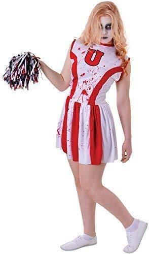 Kostüm Cheerleader Teen - Fancy Me Teen &Ältere Mädchen Zombie Cheerleader Halloween Horror Zombie Unheimlich Karneval Kostüm Kleid Outfit 12-15 Jahre