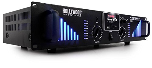 2400 Watt DJ Verstärker Bluetooth USB SD AUX PA-Endstufe Bluestream 2.0 2400 schwarz