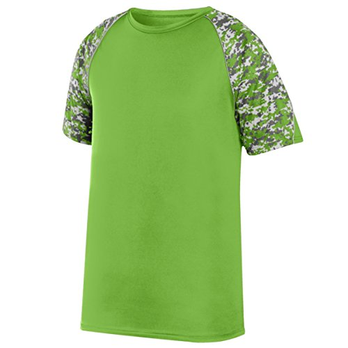 Augusta Sportswear Herren Color Block Digi Camo Jersey, Herren, Lime/Lime Digi/Silver, M