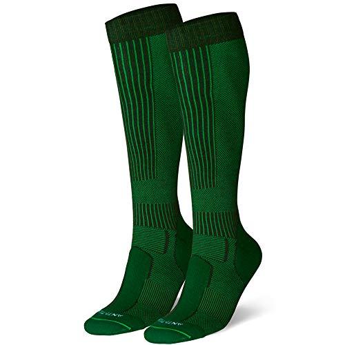 DANISH ENDURANCE Merino Outdoor-Socken mit Zecken- und Mückenschutz 1 Paar (Dunkelgrün, EU 43-47)