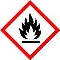 GHS Aufkleber - Warnung feuergefährliche Stoffe - 15 x 15 mm - 100 GHS-Etiketten, Polypropylen, permanent haftend - Gefahrensymbol GHS 02