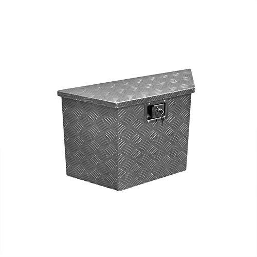 Anhängerbox MIDI Aluminium Werkzeug Metallbox Werkzeugkiste Metallkiste Blech